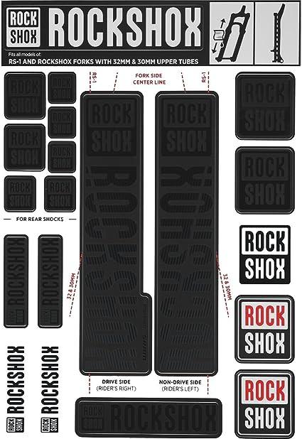 Rock Shox PIKE 2020 ULTIMATE Mountain Bike Cycling Decal Sticker Stealth Black