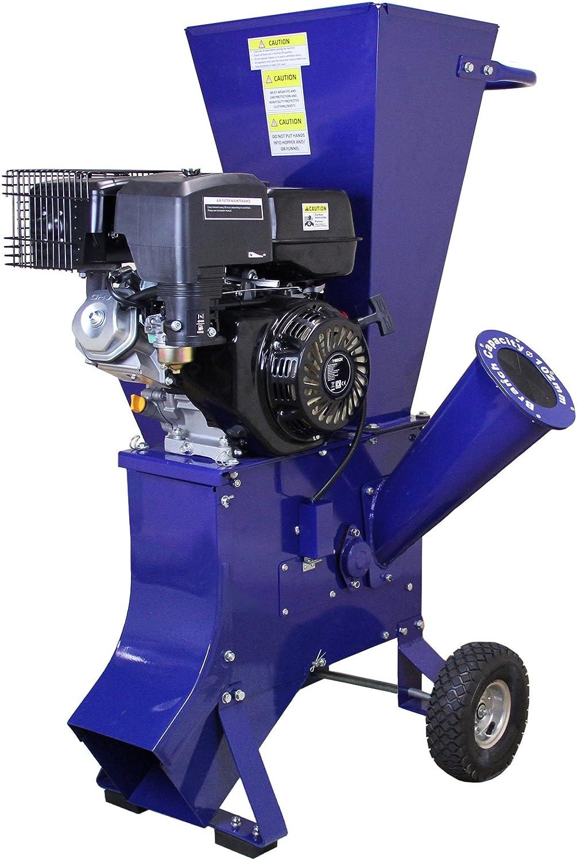 T-Mech - Trituradora de Ramas 15HP Gasolina para Destrucción de Ramas, Ramitas y Hojas para Jardineros Profesionales, Paisajistas y Aficionados