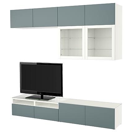 Ikea Besta Tv Storage Combinationglass Doors Whitevalviken Grey