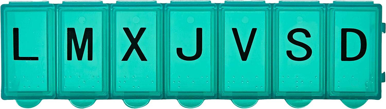 La Pastilla pastillero organizador semanal 1 toma diaria blanco, Medio