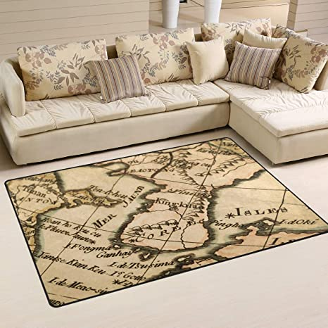 Amazon.com: Top Carpenter Old Map Korean Peninsula Area Rug ...