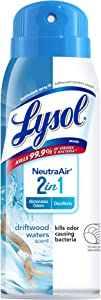 Lysol Lysol Neutraair Disinfectant Spray, 2 In 1: Eliminates Odors and Disinfects, Driftwood Waters, 10 Ounce