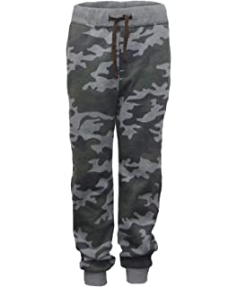 Terranova Childrens Elasticated Camouflage Printed Jogging Bottom Sweatpants Trousers with Drawstring