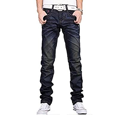 8f63e27476f8 New Men s Designer jeans Casual Dark Blue F002 Denim Mens Pant Trousers  Jeans Blue F002 W30