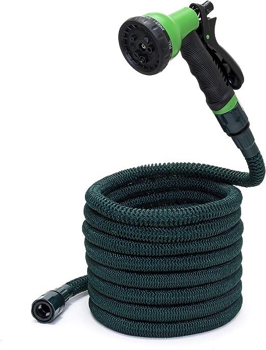 Somera Manguera de jardín extensible con boquilla de agua y conector para tomas de agua I Manguera flexible para riego: Amazon.es: Jardín