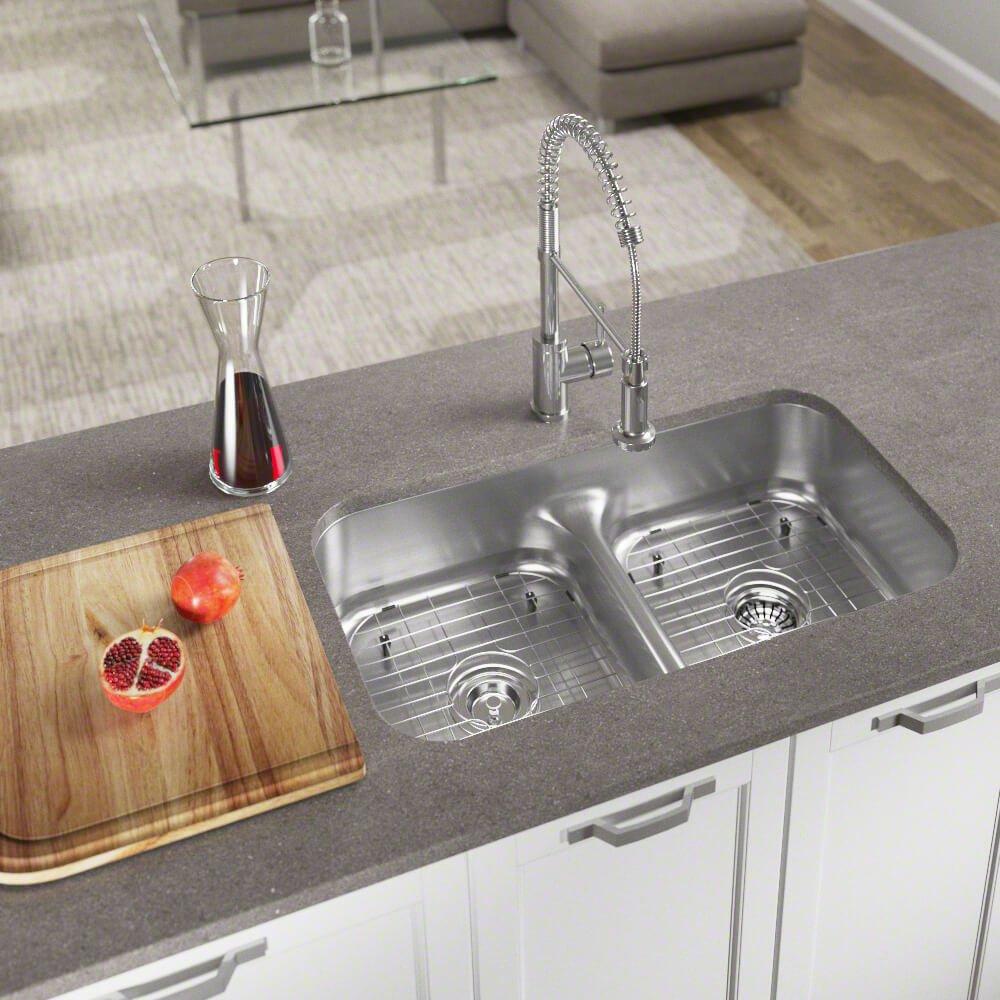 512 16 gauge stainless steel kitchen ensemble bundle 6 items