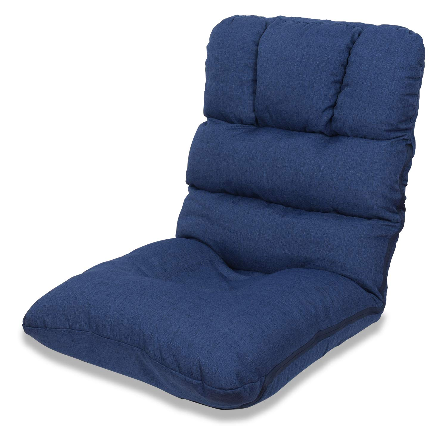 WAYTRIM Indoor Adjustable Floor Chair 5-Position Folding Padded Kids Gaming Sofa Chair, Perfect for Meditation, Reading, TV Watching, Blue by WAYTRIM