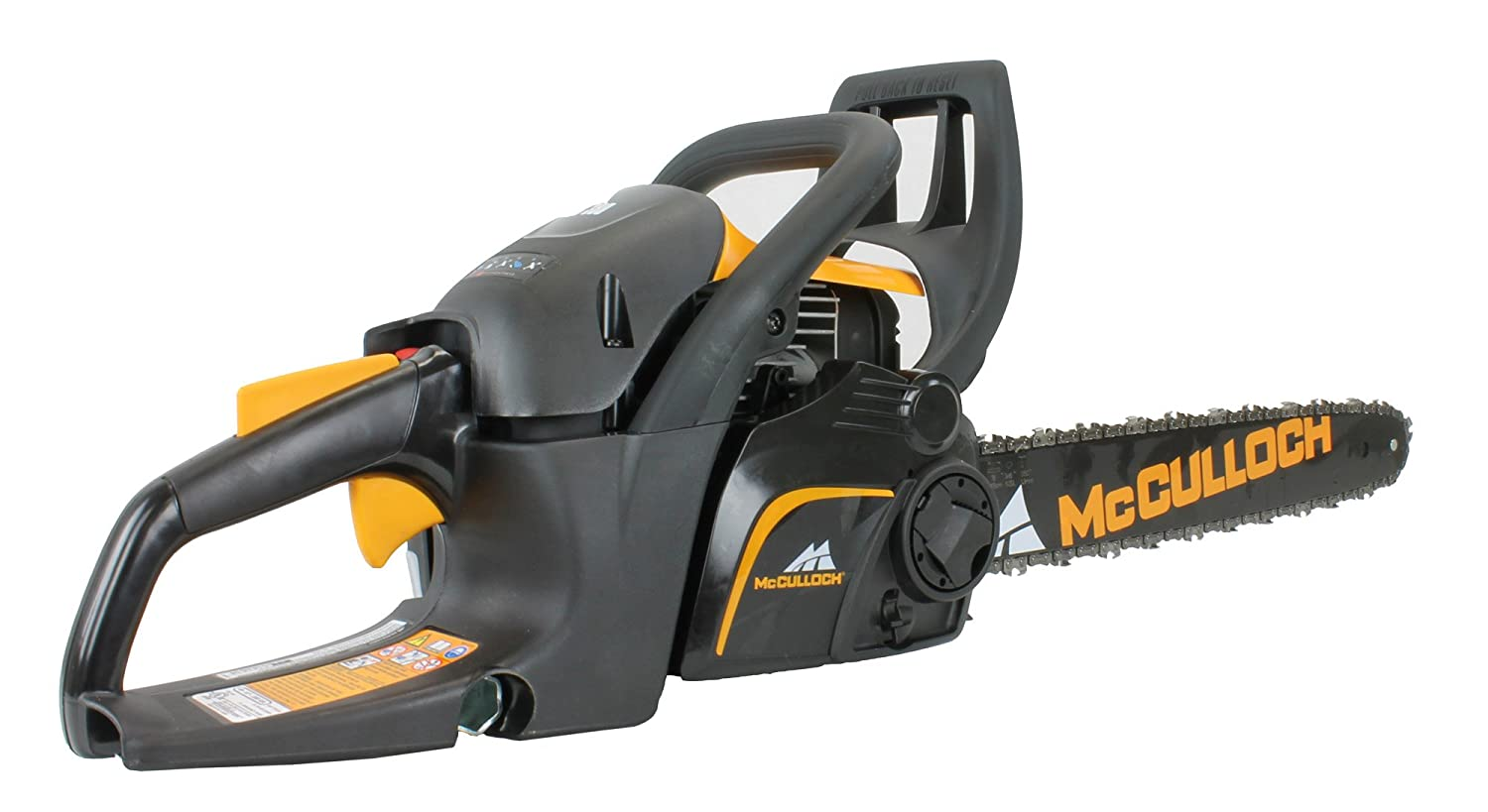 New mcculloch cs340 16 bar 34cc 2 cycle gas powered chain saw new mcculloch cs340 16 bar 34cc 2 cycle gas powered chain saw tree chainsaw amazon garden outdoors greentooth Choice Image