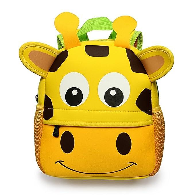 e44e6a41234b Kids Backpack Cute 3D Animal Cartoon Toddler Backpacks Gift for Children -  Cute Giraffe Design for