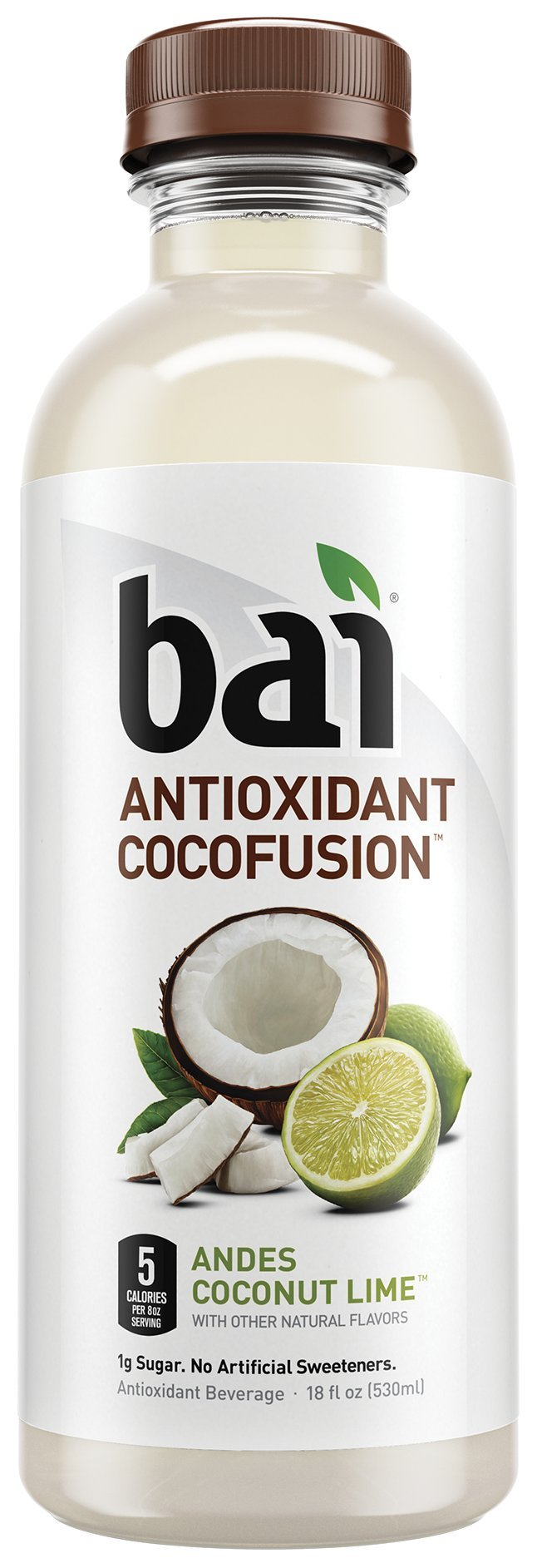 Bai Coconut Flavored Water, Andes Coconut Lime, Antioxidant Infused Drinks, 18 Fluid Ounce