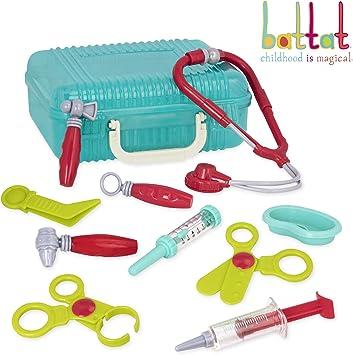 Battat - Deluxe Doctor Kit - Pretend Play Doctor Set for Kids 3 Years + (11-Pcs)