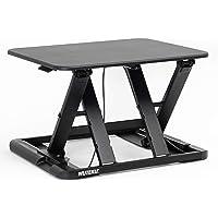 WUTEKU Height Adjustable Stand Up Desk Converter 22x26 Ergonomic Sit Stand