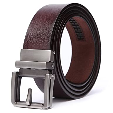 f9bf002c170d68 teemzone Gürtel Herren Braun Leder 35mm Automatik Ledergürtel Herrengürtel  aus Vollrindleder mit Automatikschließe (bis zu