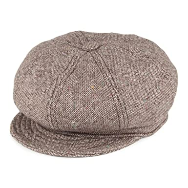 New York Hat Co. Tweed Baker Boy Cap - Brown X-LARGE  Amazon.co.uk ... e90d0eff74d
