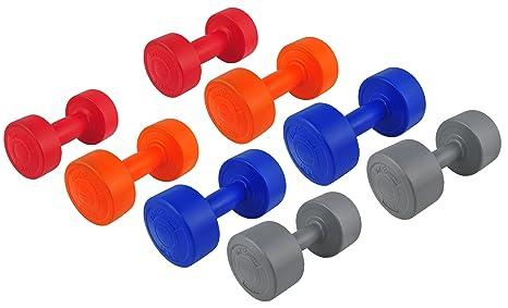 Bad Company - Mancuernas redondas revestidas de plástico (20 kg, 2 de 1 kg