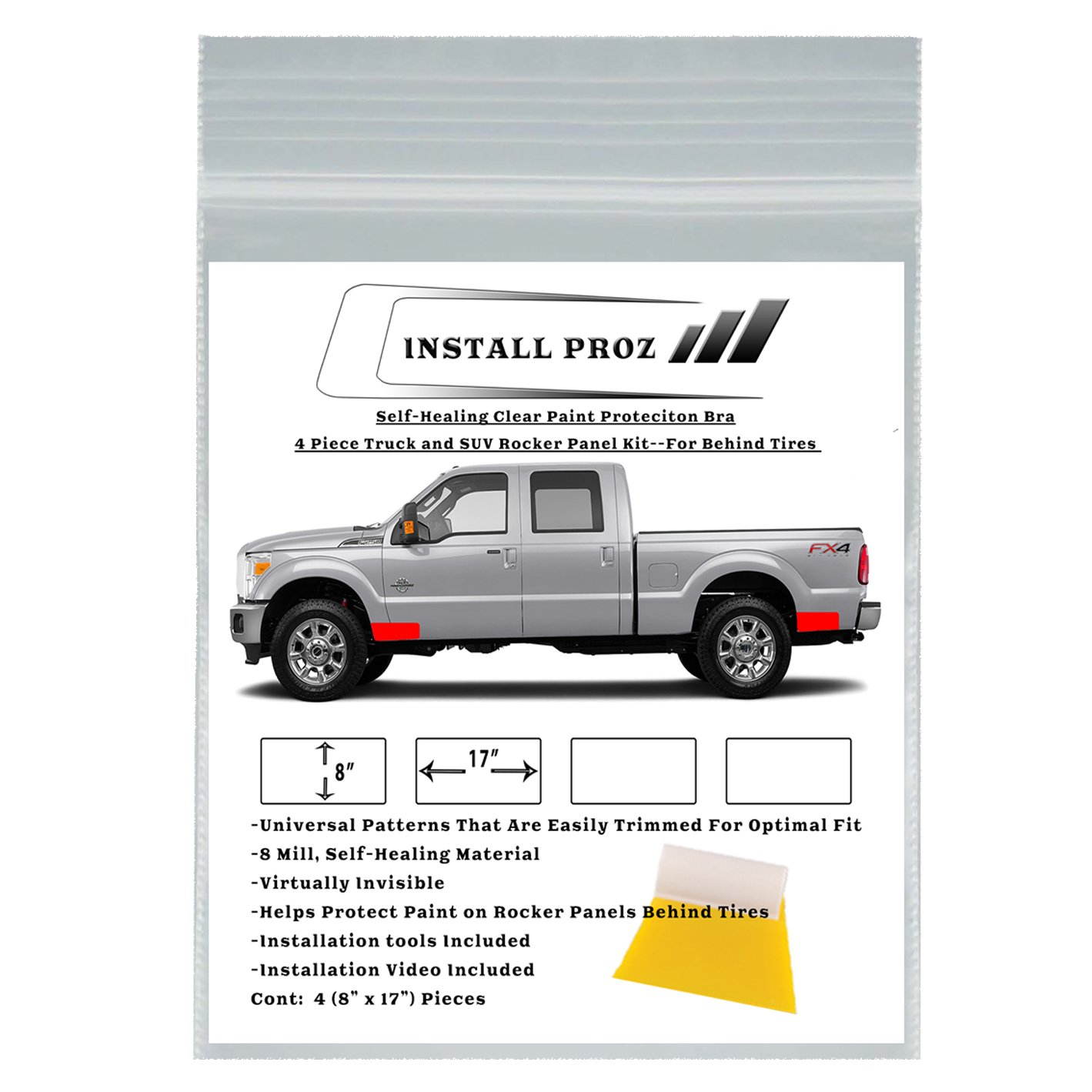 Install Proz Clear Paint Protection Film-4 Piece Rocker Panel Kit