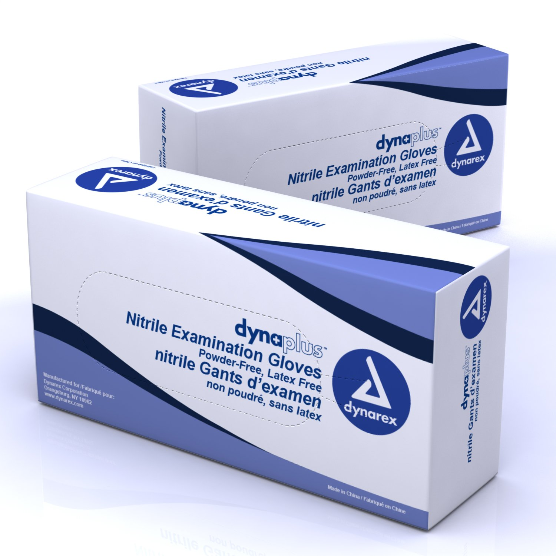 Dynarex Nitrile Exam Glove (non-latex) Powder Free (economy) Blue 10/200/Case (Larg)