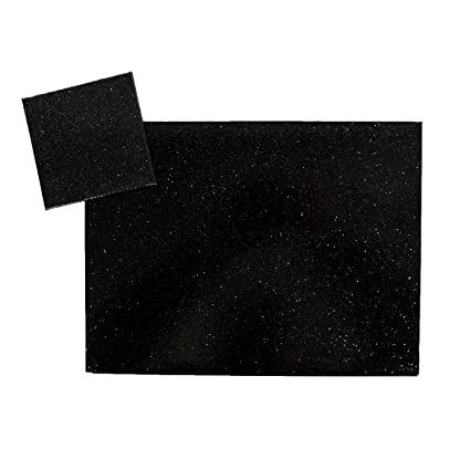 faf8f2db8bb6 Image Unavailable. Image not available for. Colour: Christmas Set of 4 Sparkly  Glitter Effect Placemats & Coasters: BLACK