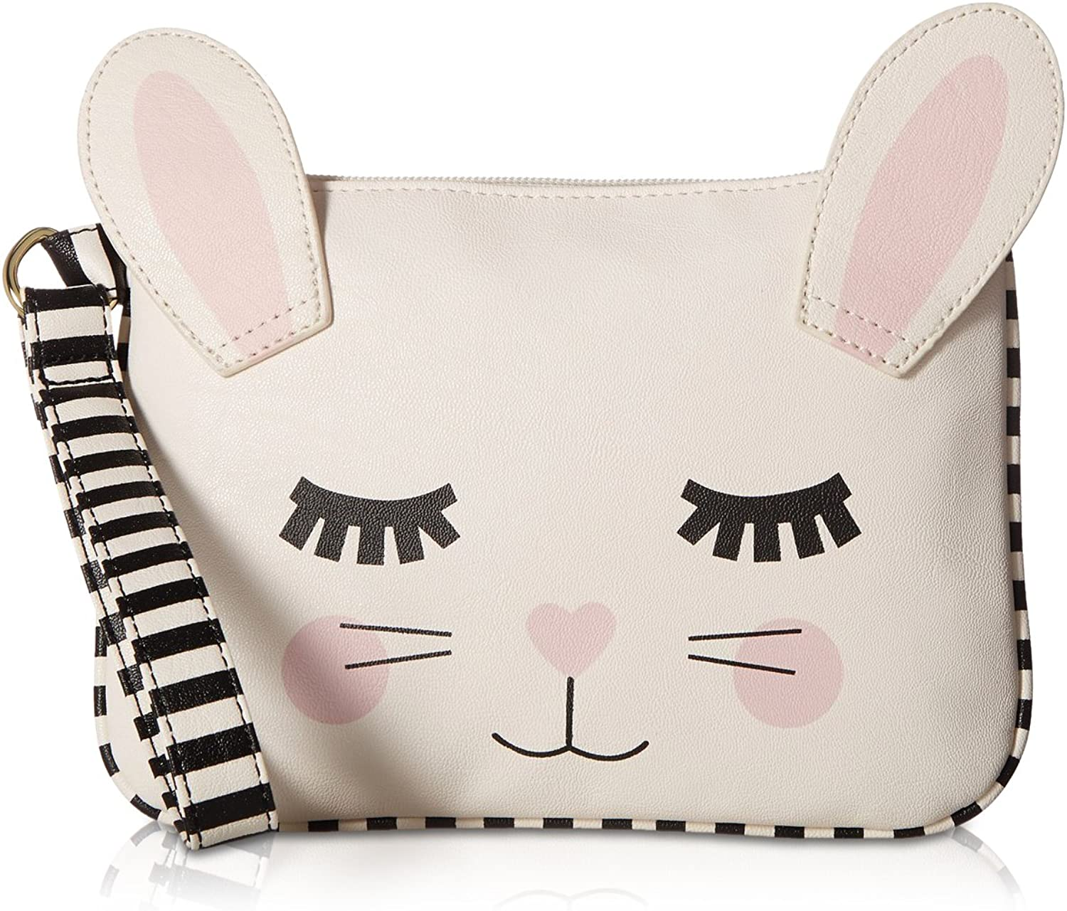 Betsey Johnson Kitch Cat Wristlet Coin Purse Pouch