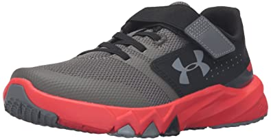 9a018bdcc Under Armour Men's Pre School Primed Adjustable Closure Sneaker Graphite  (040)/Anthem Red