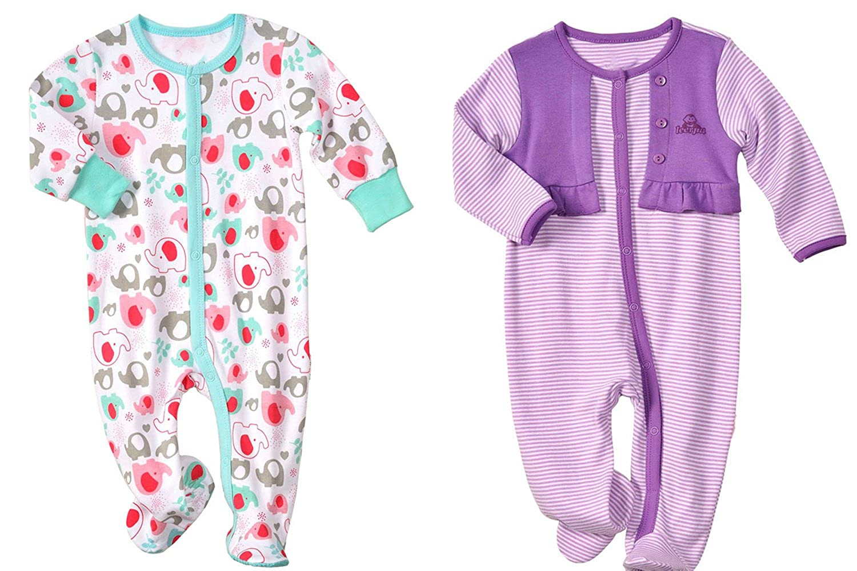 LJ SLEEPWEAR ベビーガールズ 12 - 18 Months Purple and Blue B016C4Q9NO