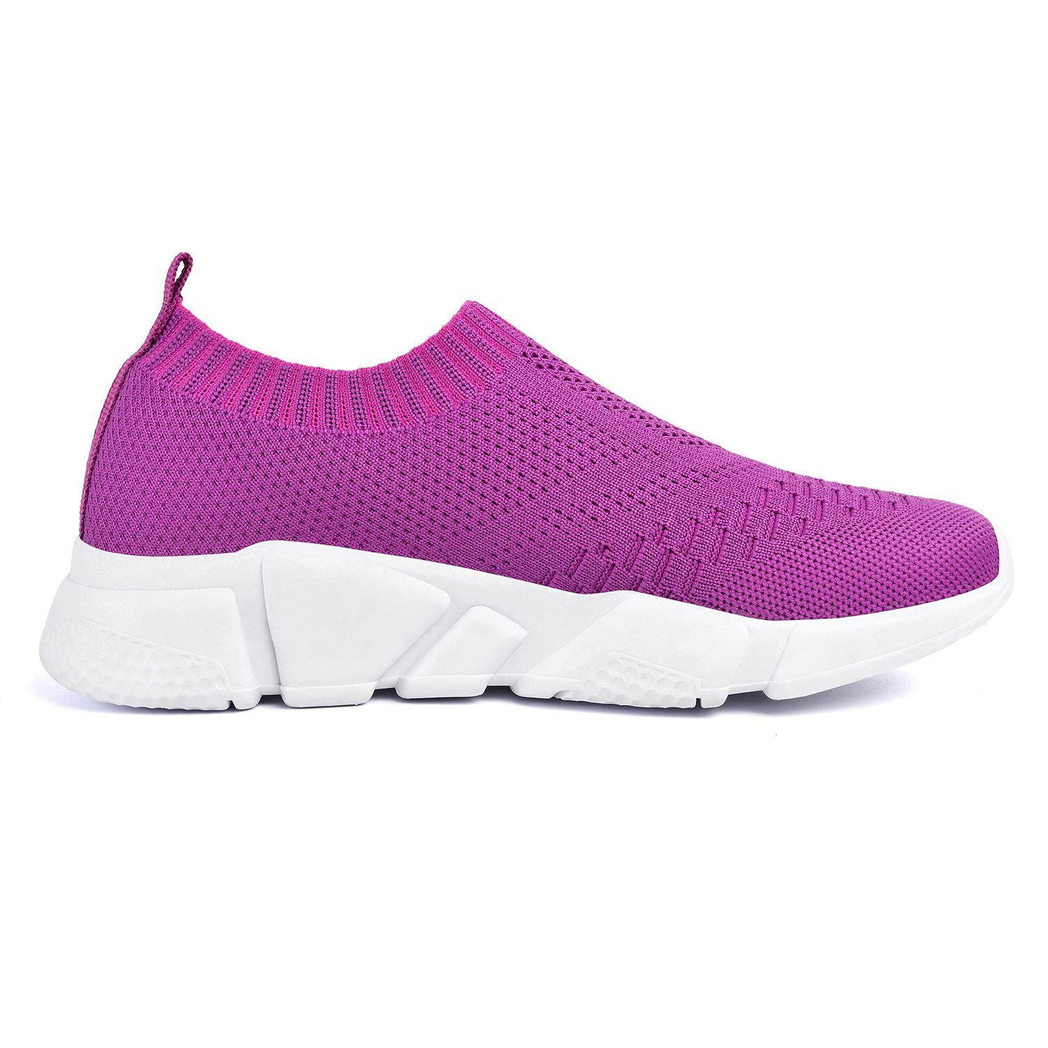 Mxson Women's Slip Casual On Sneaker Mesh Loafer Casual Slip Beach Street Sports Walking Shoes (New Size Version) B07C2117H9 7 B(M) US|Purple 40205a