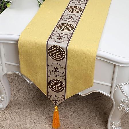 Caminos de mesa de alta calidad Amarillo moda simple mesa de ...
