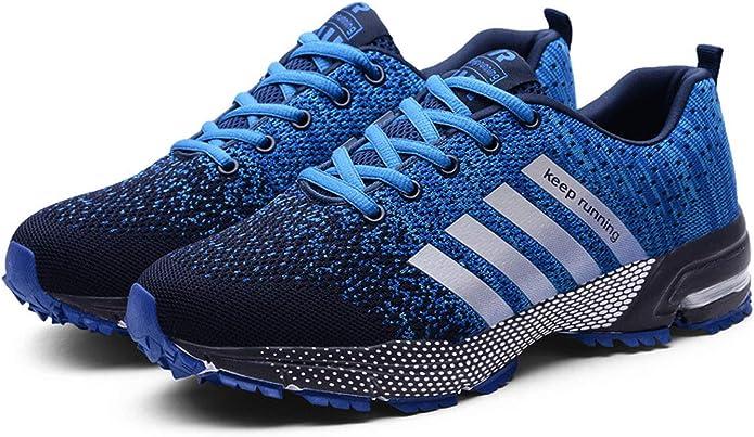 Goalsse Hombres Mujer Zapatillas Calzado Deportivo Moda Casual Zapatos Tendencia Zapatillas Deportivas Zapatillas Deportivas Transpirables Fitness Casual (41 EU, Azul): Amazon.es: Zapatos y complementos