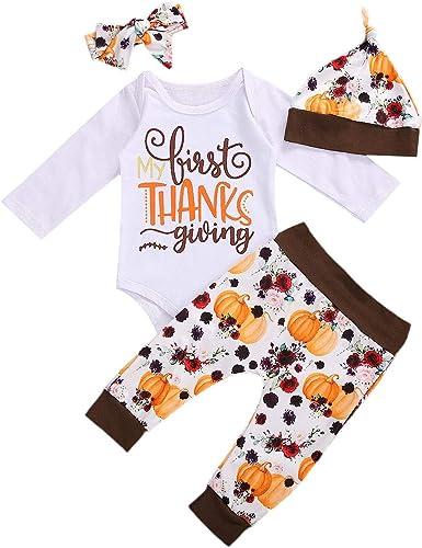 Christmas Kid Baby Girl 3pc Clothes Jumpsuit Romper Bodysuit Leggings Outfit Set
