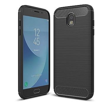 LXHGrowH Funda Samsung Galaxy J7 2017, [Ultra Delgada] Carcasa para Samsung Galaxy J7 2017 SM-J730F Cover Silicona TPU Protectora Color Negro