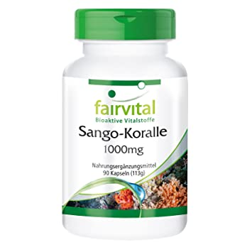 Coral Sango 1000mg - Bote para 3 meses - VEGANO - 90 Cápsulas - contiene 340 mg de calcio por cápsula: Amazon.es: Salud y cuidado personal