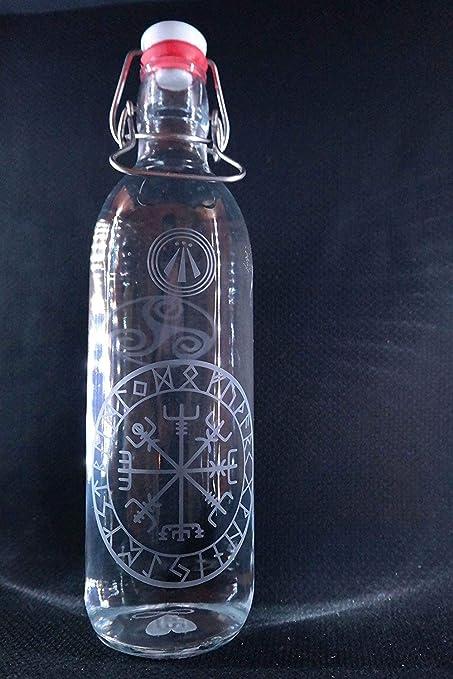 freiglas 1,0l Botella de cristal * vegvisir, Rune Brújula de ...
