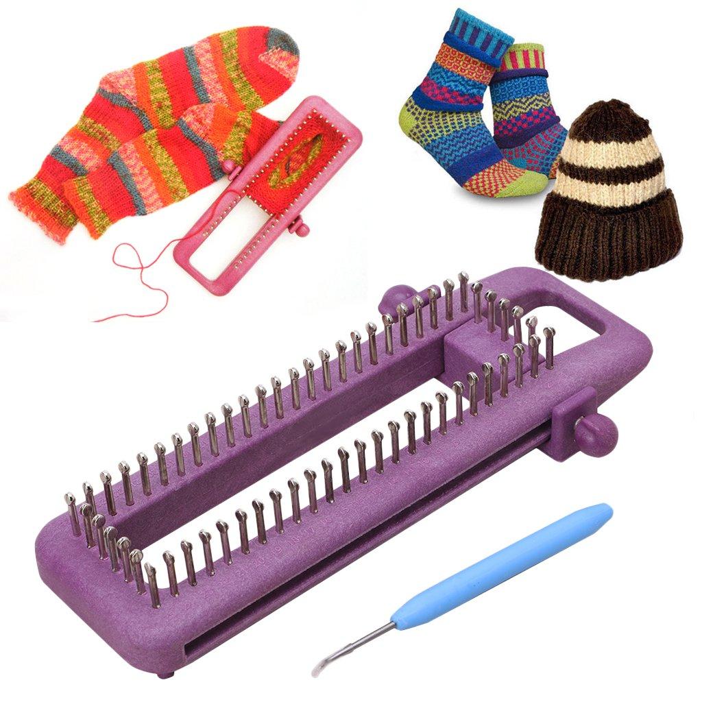 Hacloser Adjustable Sock Loom Kit Knitting Socks Scarf Hat DIY Hand Craft Tool Plastic