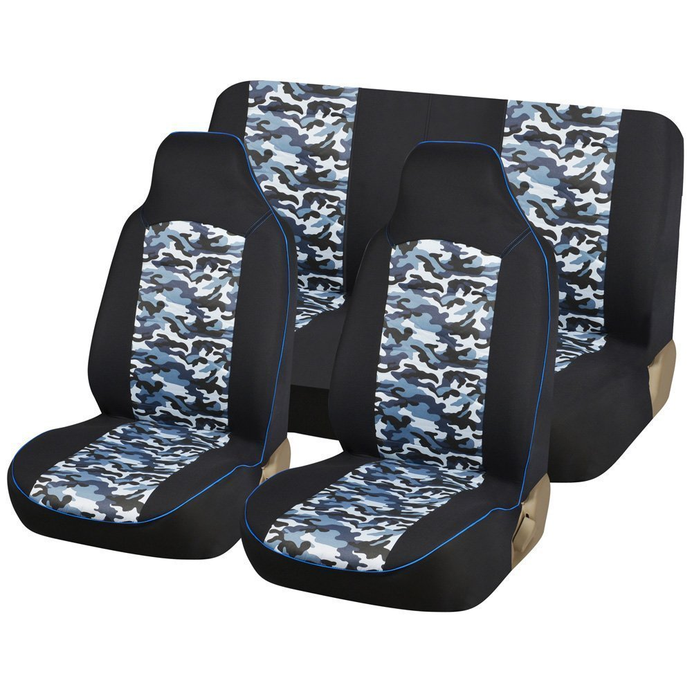 Remarkable Amazon Com Cl1006B10 Carline Blue Camo Fabric 4Pcs Full Car Pabps2019 Chair Design Images Pabps2019Com