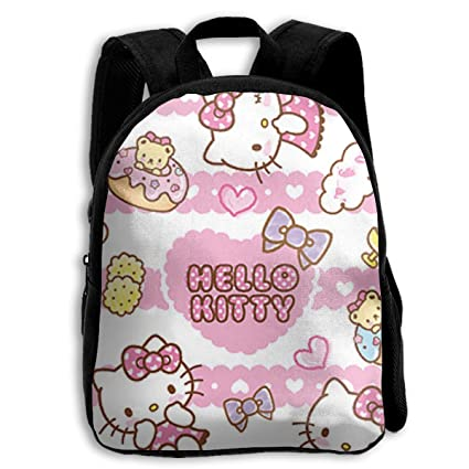 351db217dc Image Unavailable. Image not available for. Color  CHLING Kids Backpack  Hello Kitty Milk Print Childrens School Bag Teenager Bookbag for Boys Girls