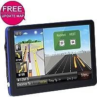 "Car GPS Navigation System, TSWA Free Lifetime Map Update GPS Navigation for car,SAT NAV, 7"" HD GPS Navigator, Vehicle GPS Navigation with USB Cable and Car Charger & Mount"