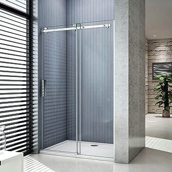 Puerta corredera, mampara de ducha corredera, 8 mm de vidrio ...