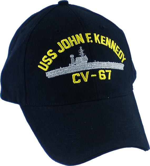 Amazon.com  Eagle Crest USS John F. Kennedy Mens Cap  Dark Navy Blue ... 067f52c5915b