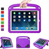 LTROP Universal Case for iPad Mini 1 2 3 4 5 - Light Weight Shock Proof Handle Friendly Convertible Stand Kids Case for iPad Mini 5th/ 4th/ 3rd/ 2nd/ 1st Generation - Purple