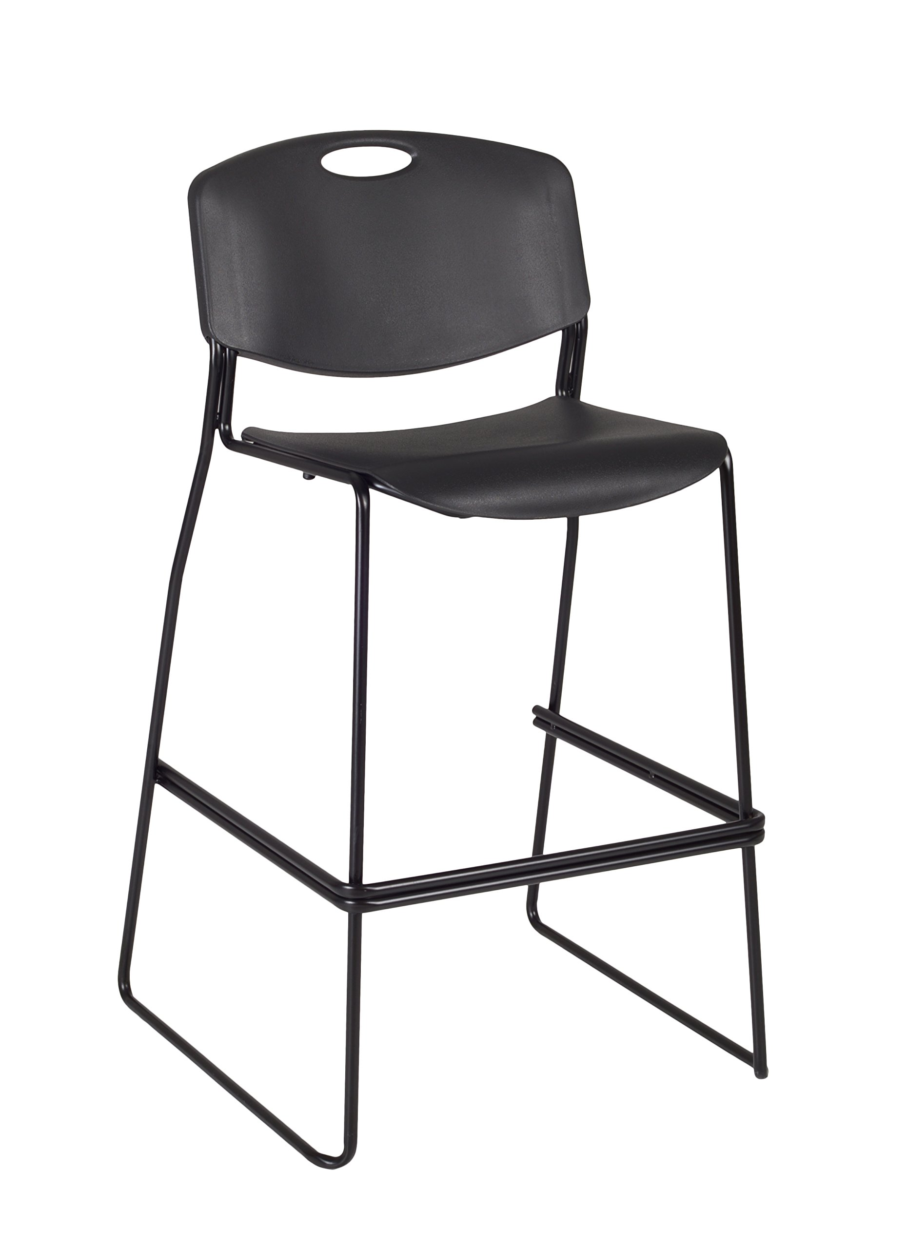 Regency Zeng Stack Stool, Black by Regency