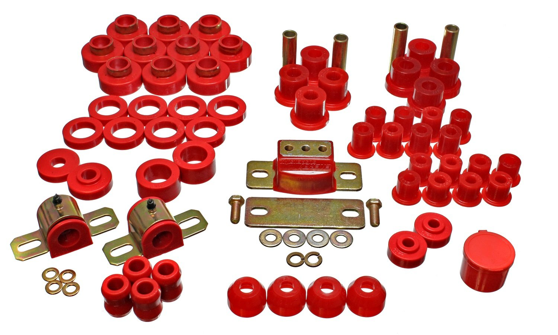 Energy Suspension 218102R Bushings 80-86 Jeep CJ7 Red Hyperflex Master Bushing Kit