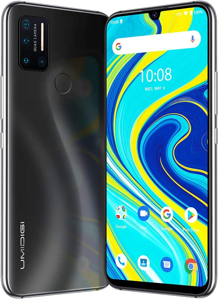 "UMIDIGI A7 Pro Unlocked Cell Phones(4GB+64GB) 6.3"" FHD+ Full Screen, 4150mAh High Capacity Battery Smartphone with 16MP AI Quad Camera, Android 10 and Dual 4G Volte(Cosmic Black)."
