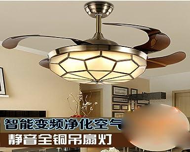 Ventilador de techo Invisible, la banda de frecuencia, LED, retro ...