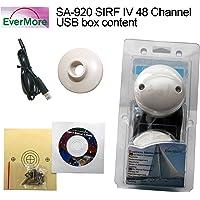 Evermore SA-920 48 Kanal SIRF 4 Chip USB GPS Empfänger Satelliten für Marine Boot Yacht LKW für den Anschluß an PC Laptop Desktop NMEA 0183 geeignet für Windows Apple Mac OS Linux -163dBm