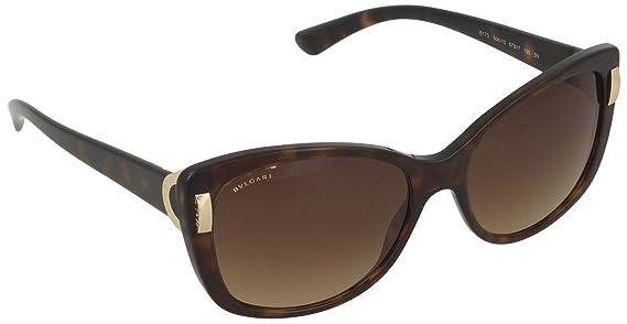 Womens 0BV8170 504/13 Sunglasses, Dark Havana/Brown Gradient, 57 Bulgari