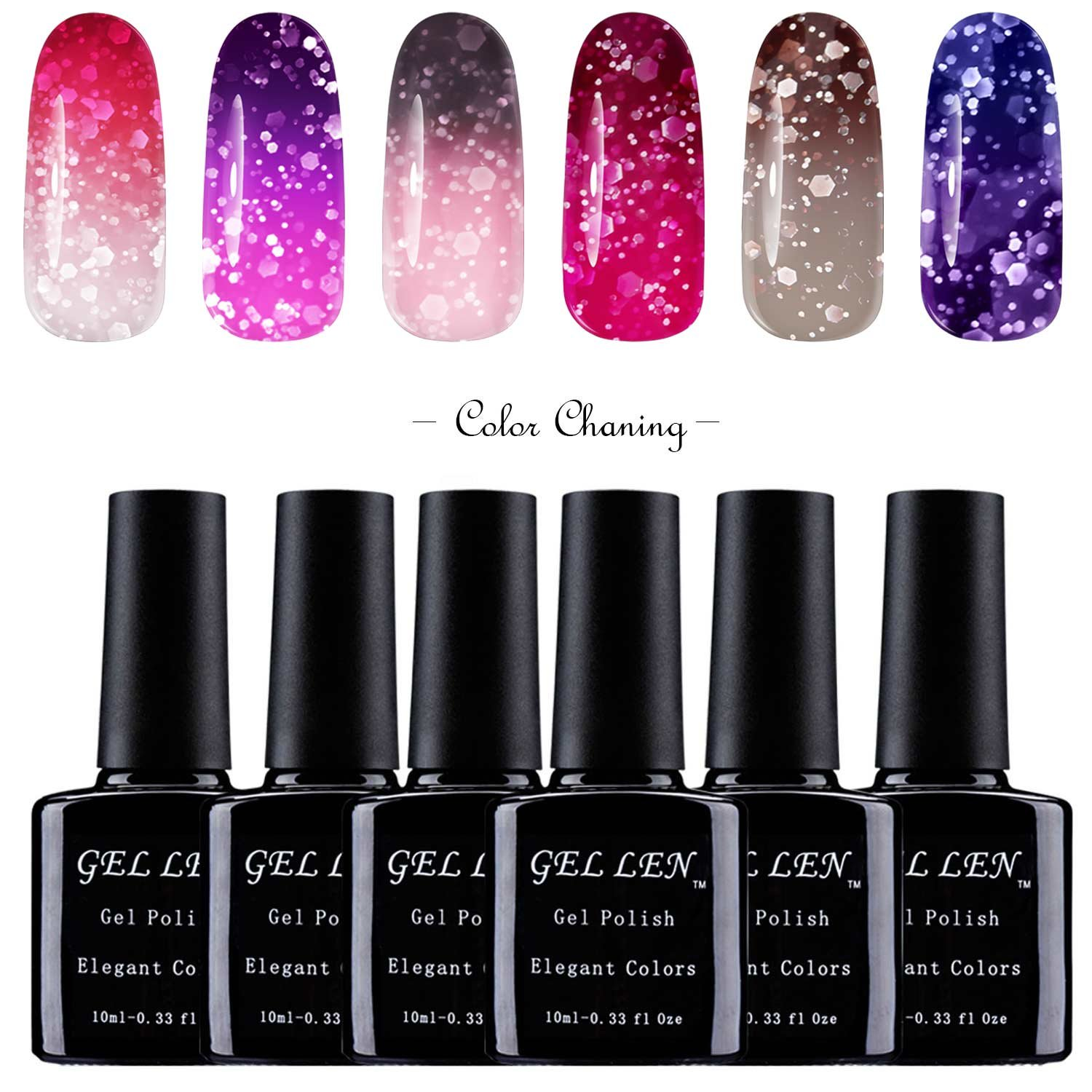 Uv Gel Nail Polish Starter Kit: Amazon.com : Gellen UV Gel Nail Polish Kit 6 Colors + Base