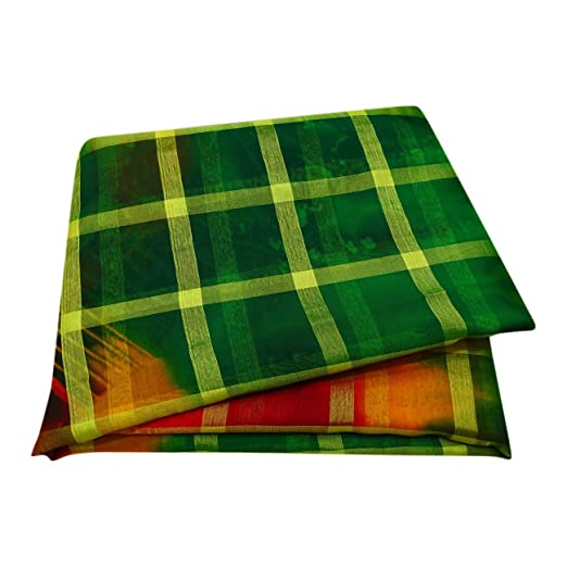 PEEGLI Indio Mujer Pareo De Malasia Envolver Verde Vintage Saree ...
