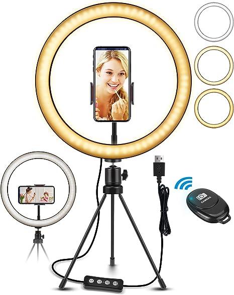 Elegiant Led Ringlicht Stativ 10 2 Selfie Ringleuchte Computer Zubehör