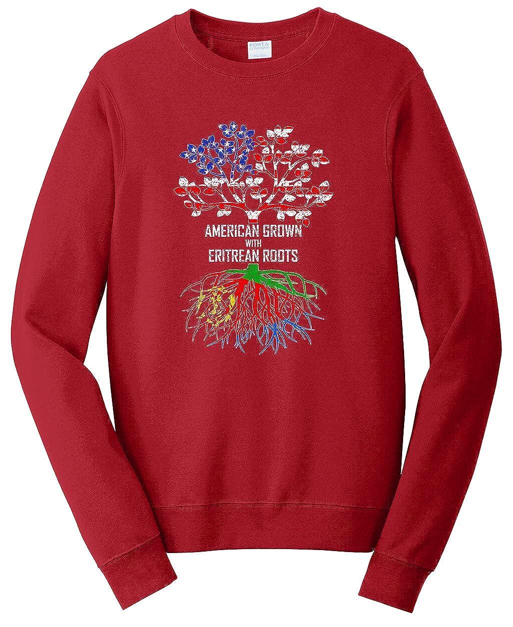 Tenacitee Unisex American Grown with Eritrean Roots Sweatshirt
