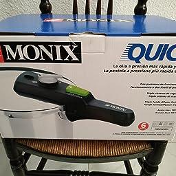 Monix Quick - Olla a Presión Rápida de 6 Litros, Tamaño 22 cm ...